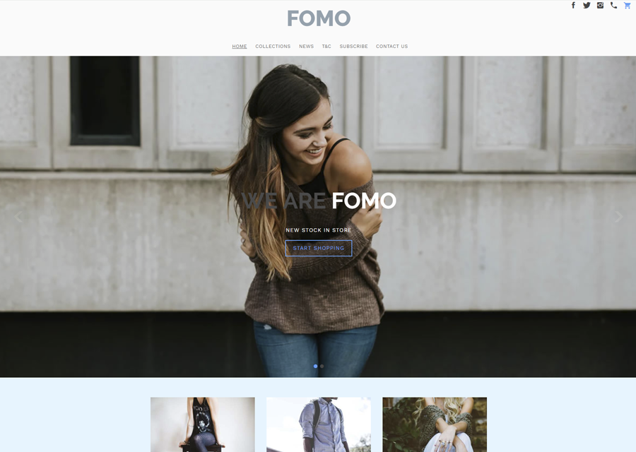 FOMO Clothing Ecommerce (template)