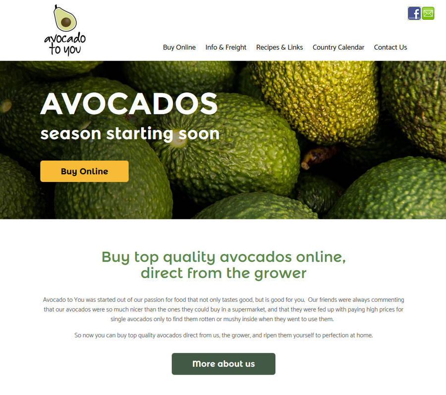 Avocado to you site update