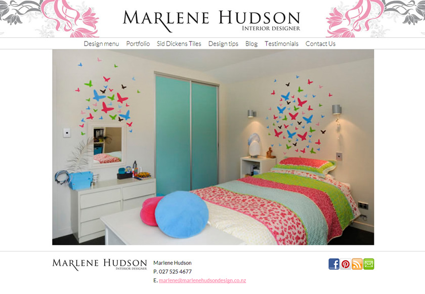 Marlene Hudson Design website upgrade